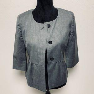 J. Crew Gray Wool 3/4 Sleeve Blazer 4